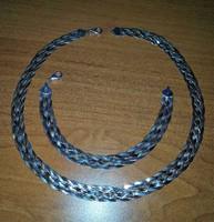 Női Ezüst Lap Lánc karkötővel 6 fonatú több színű Arany Ezüst