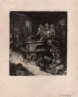Kondor Béla - 17 x 15 cm rézkarc