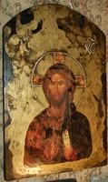 Krisztus - fára festett ikon