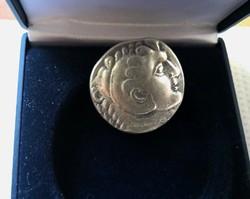 Ókori Görög ezüst Nagy Sándor III. Tetradrachma érme Kr. előtt 336-323 ~ 26 mm 16 g