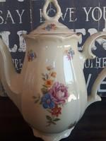 Porcelán Kávés kancsó krémszínű