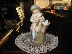 Régi bécsi részlet gazdag ,   porcelán figura  22 cm