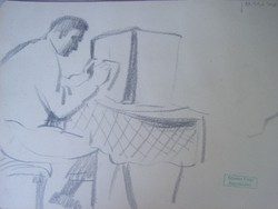 Gyenes Gitta (1888 - 1960) Rádiót hallgató