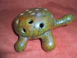 Tófej kerámia teknős/szálas váza