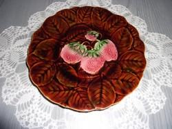 Sarreguemines majolika süteményes tányér