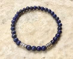 Kék lápisz ásvány Uniszex karkötő görög stílus