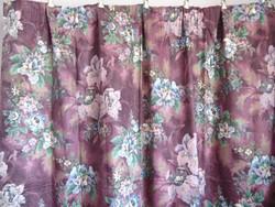 4 db sötétítő függöny lila alapon virágmintás