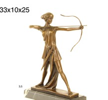 Diana a vadász -mitológiai bronzszobor