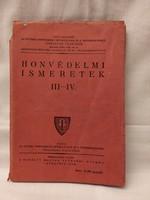Honvédelmi Ismeretek 1942 tankönyv