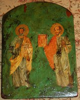 Szent Péter és szent Pál - fára festett ikon