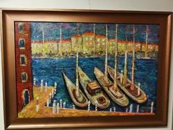 Vén Emil jelzéssel - Velence kikötő (Képcsarnok címkével)