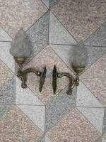 Bronz falikar láng búra! Szobor díszítésű, szobros díszes hátlap!
