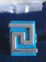 EZÜST gyűrű türkizzel magyar fémjeles