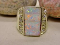 Gyönyörű kézműves opál ezüst gyűrű