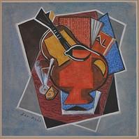 Jaroslav KRÁL (1883-1942) festmény, vegyes technika papír, jelezve Jar Král
