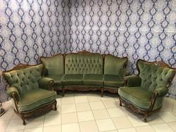 Neobarokk ülőgarnitúra (4 személyes kanapé +2 db fotel) I.