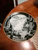 Hollóházi Szász Endre porcelán tányér,falitányér Adria 25 cm