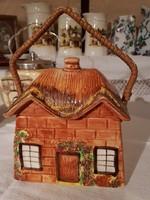 Angol fajansz Old Cottage keksztartó