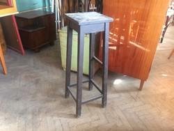 Régi vintage fa posztamens fenyő virágtartó állvány 93 cm