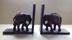 Régi diófa elefántos könyvtámasz