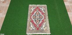 2013 KÜLÖNLEGES Vintage Iráni Hamadan Kézi Szőnyeg 69X43CM