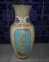 Kerámia padlóváza, keleti növénymintával (retro / vintage váza)