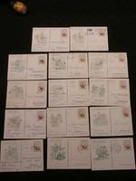 Alkalmi levelezőlapok 20 db - Madách, Vecsés stb