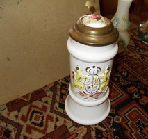 Szép magyar címeres porcelán kupa