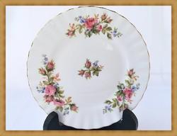 """Royal Albert """"Moss Rose"""" rózsa mintás süteményes tányér"""