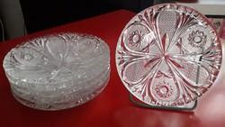 Ólomkristály süteményes tányérok