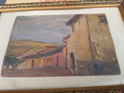 Festmény Bosznay istván olaj fa