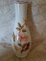 Hibátlan Hollóházi dália virágos váza 31 cm