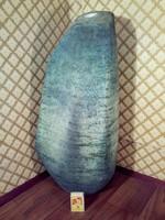 Mid Century ritkaság ÓRIÁS méretű SIMÓ ÁGOSTON  samottos kerámia padló váza