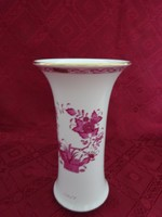 Herendi porcelán, Apponyi mintás váza, magassága 21 cm.