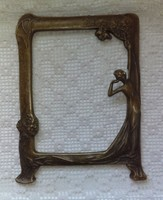 Bronz asztali álló tükörkeret, képkeret