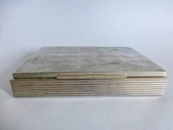 Retro alpakka iparművész  díszdoboz,kártyatartó doboz