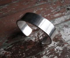 Sima ezüst karperec, tömör, nehéz darab! 41,2 gramm