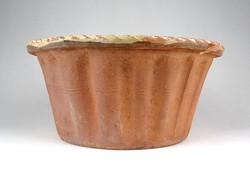 1A651 Antik cserép kuglófsütő forma