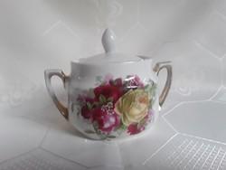3080- Antik rózsás cukortartó