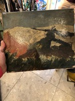 Mednyánszky jelzéssel, 30 x 23 cm-es, olaj,vászon festmény.