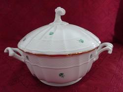 Herendi porcelán, ZVE antik  leveses tál, sérült, a tál belsejében 2 cm repedés van.