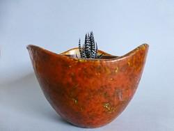 Retro vintage iparművész kaspó,kaspó váza