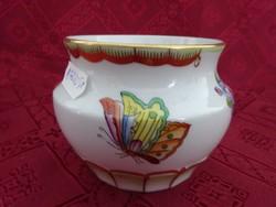 Herendi porcelán, Viktória mintás váza, magassága 8 cm, felső átmérője 8 cm.
