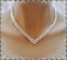 Esküvői, menyasszonyi nyaklánc, swarovszki kristály SL-ESW02-2