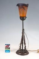 Bronz asztali lámpa .Vadász ház dísze XX sz eleje.