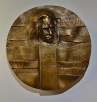 Szentirmai Zoltán : Liszt Ferenc ,bronzplakett