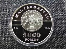 Fáy András halálának 150. évfordulójára .925 ezüst 5000 Forint 2014 BP PP / id 21668/
