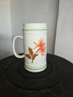 Hollóházi Zalaegerszeg korsó, virágos mintával, Gyűjtői szépség