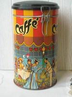 Kávés fém doboz