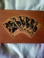 Eredeti dobozában régi römikártya